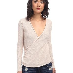 Free People Gotham Faux Wrap Sweater